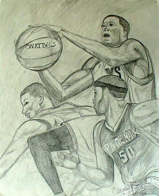 Basketball Player 2 Art Print by Darlene Ricks- Parker