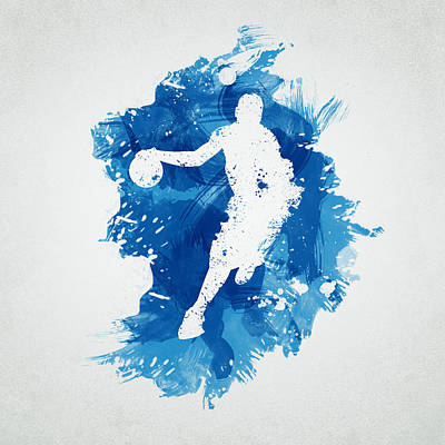 Ink Drawing Digital Art - Basketball Player by Aged Pixel