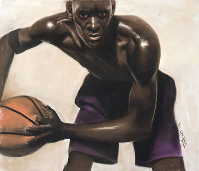 Basketball Player Art Print by L Cooper