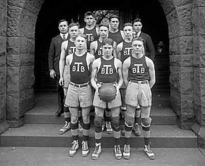 Basketball Portrait Painting - Basketball Team, 1920 by Granger