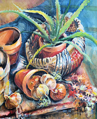 Painting - Baskets by Linda Shackelford