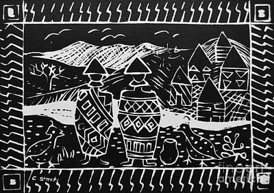 Basotho In Lesotho Art Print