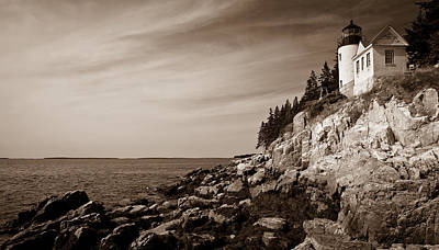 Photograph - Bass Harbor Head Lighthouse by Wayne Meyer