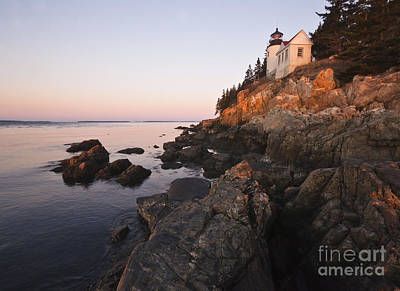 Photograph - Bass Harbor Lighthouse Acadia National Park by Glenn Gordon