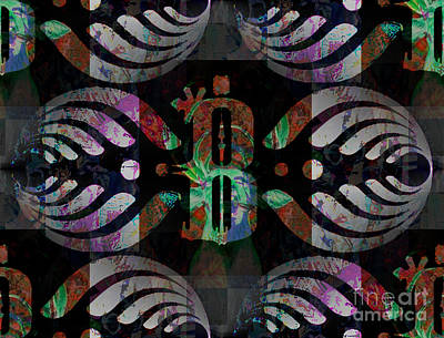 Pop Art Rights Managed Images - Bassnectar Symbol Remixed Royalty-Free Image by Andrew Kaupe