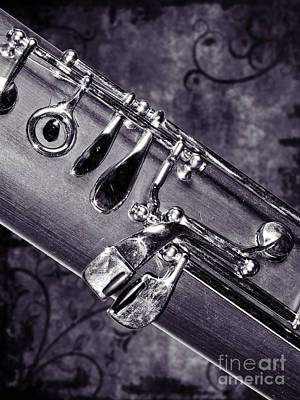 Photograph - Bassoon Music Instrument Fine Art Prints Canvas Prints Greeting Cards In Black White 3420.01 by M K  Miller