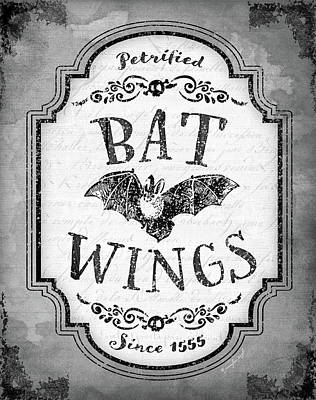 Bat Wings Art Print by Jennifer Pugh