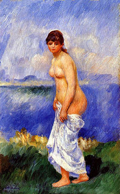 Painter Digital Art - Bather by Pierre-Auguste Renoir