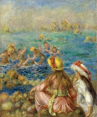 Bathers Renoir Painting - Bathers by Pierre-Auguste Renoir