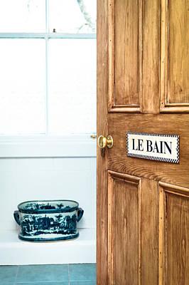 Bathroom Door Print by Tom Gowanlock