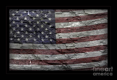 Photograph - Battered Old Glory by John Stephens