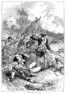 Battle Of Bunker Hill, 1775 Art Print by Granger