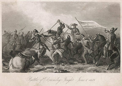 Freedom Struggle Drawing - Battle Of Drumclog Royal Troops by Mary Evans Picture Library