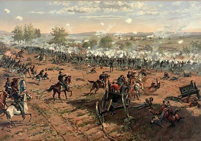 Bayonet Digital Art - Battle Of Gettysburg by Thure de Thulstrup
