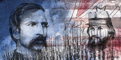 Art Print featuring the digital art Battle Of Gettysburg Tribute Day Two by Joe Winkler