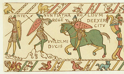 Battle Of Hastings A Sentinel Tells Art Print by Mary Evans Picture Library