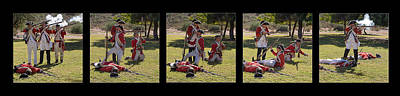 Redcoat Digital Art - Battle Of Lexington Reenactment by Priscilla Burgers