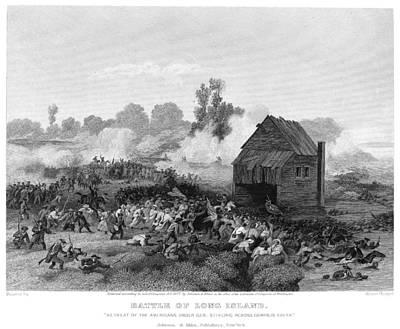 Alonzo Photograph - Battle Of Long Island, 1776 by Granger