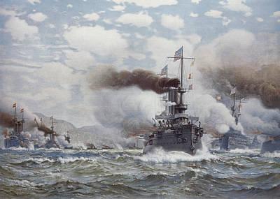 Spanish American War Painting - Battle Of Santiago, 1898 by Granger