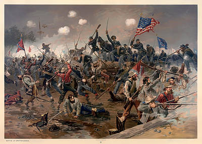 Battle Of Spottsylvania Print by Mountain Dreams