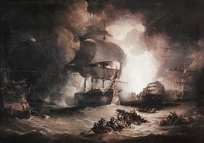 Painting - Battle Of The Nile, 1798 by Granger