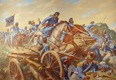 Destiny Painting - Battle Resaca De La Palma by Granger