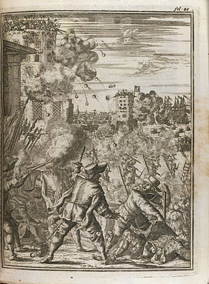 Battle Scene Art Print by British Library