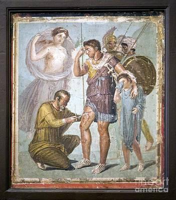 Battle Wounds Of Aeneas, Roman Fresco Art Print