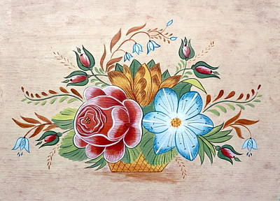 Painting - Bavarian Floral  by Brenda Ruark