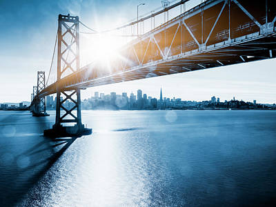 Photograph - Bay Bridge And Skyline Of San Francisco by Chinaface