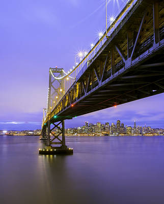Bay Bridge In San Francisco Art Print by Jerome Obille