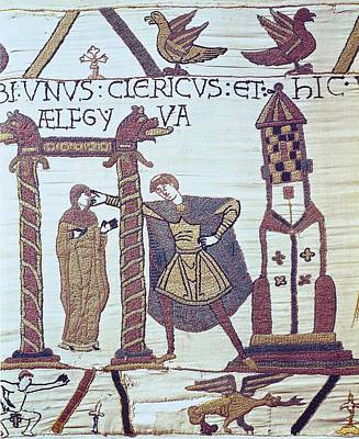 Tapestries Textiles Photograph - Bayeux Tapestry. 1066-1077. Tapestry by Everett