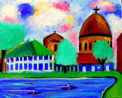 Painting - Bayou St John New Orleans by Ted Hebbler