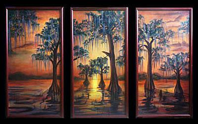 Painting - Bayou Sunset by Thomas Lupari