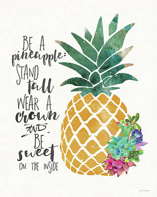 Pineapple Wall Art - Painting - Be A Pineapple by Jo Moulton