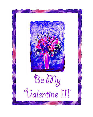 Be My Valentine Art Print by Irina Sztukowski