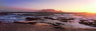 Beach At Sunset, Blouberg Beach, Cape Print by Panoramic Images