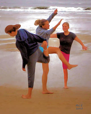Digital Art - Beach Ballet by Richard Stevens