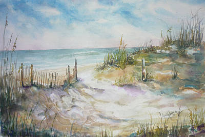 Painting - Beach Fence by Dorothy Herron