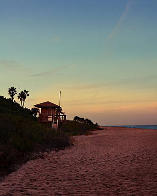 Sign In Florida Photograph - Beach Hut by Laura Fasulo
