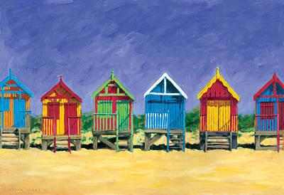 Beach Huts Print by Brian James