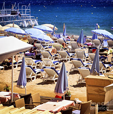Expensive Photograph - Beach In Cannes by Elena Elisseeva