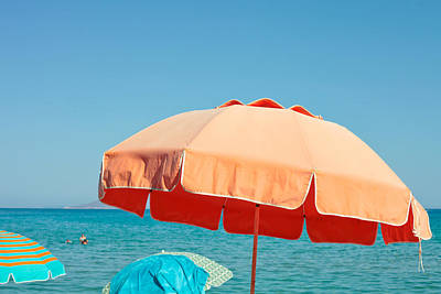 Beach Parasol Art Print by Tom Gowanlock
