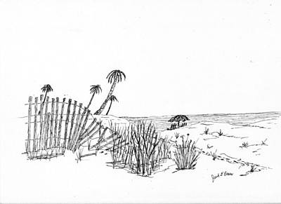 Drawing - Beach Path by Jack G  Brauer