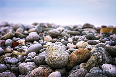 Beach Pebbles Print by Elena Elisseeva