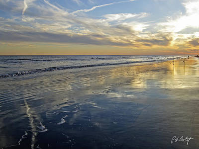 South Carolina Digital Art - Beach Reflections by Phill Doherty