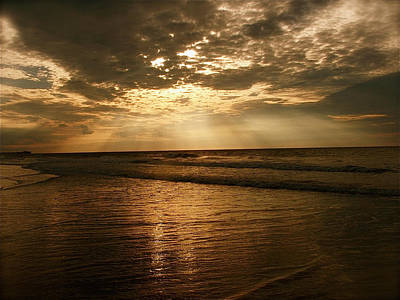 Photograph - Beach Sunrise by Nelson Watkins