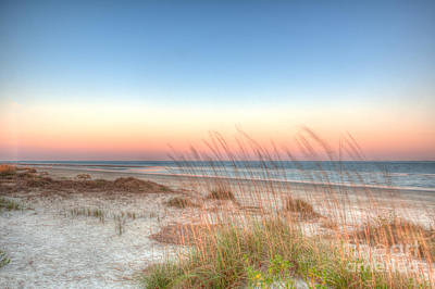 Sullivans Island Sc Photograph - Beach Sunset by Dale Powell