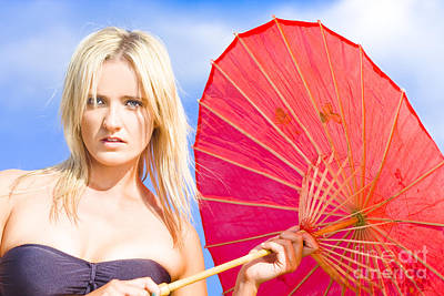 Incredulity Photograph - Beach Umbrella by Jorgo Photography - Wall Art Gallery