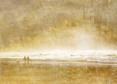 Two Waves Photograph - Beach Walk by Carol Leigh